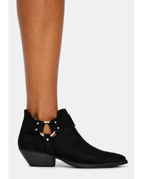 Stay In Your Lane Ankle Boots