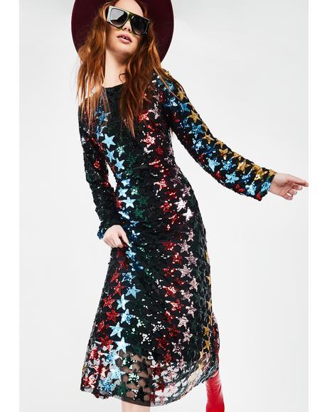 Shooting Star Sequin Dress