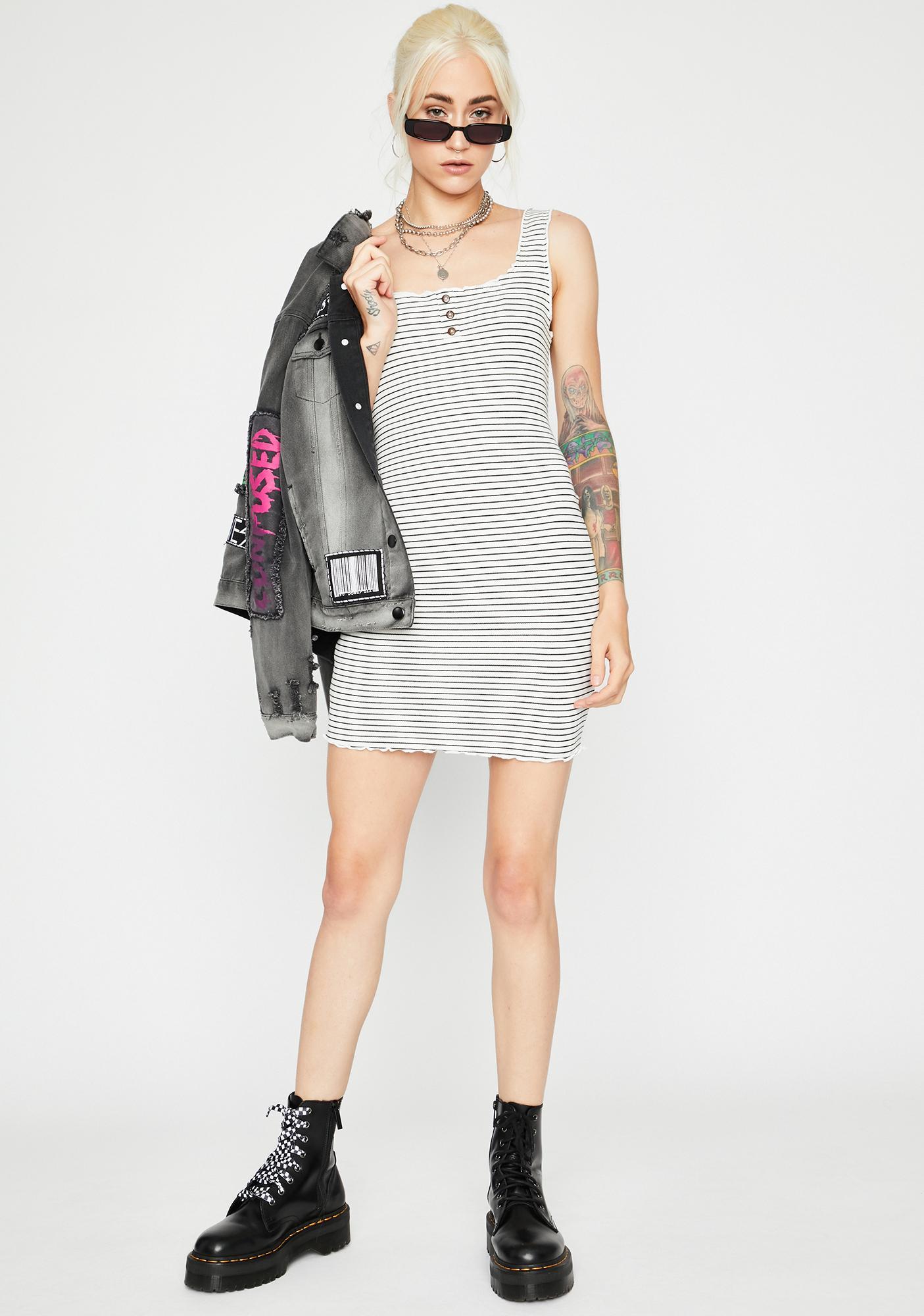 Boo TTYL Stripe Dress
