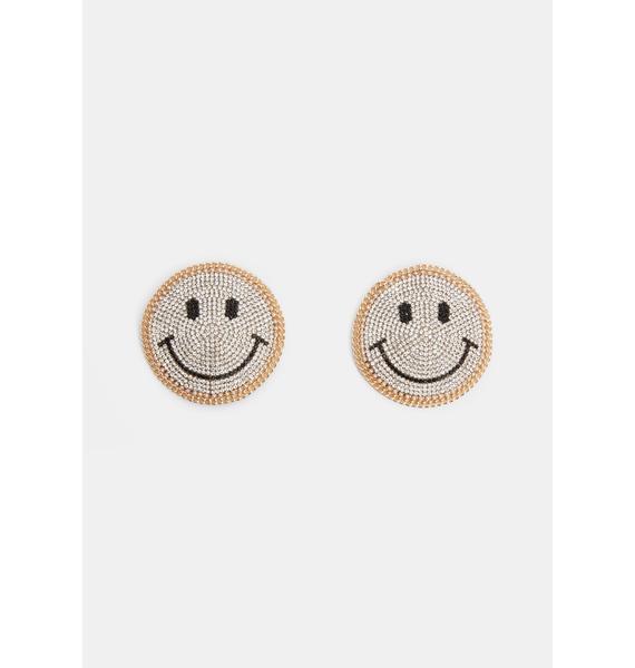 Neva Nude Smiley Face Reusable Rhinestone Pasties