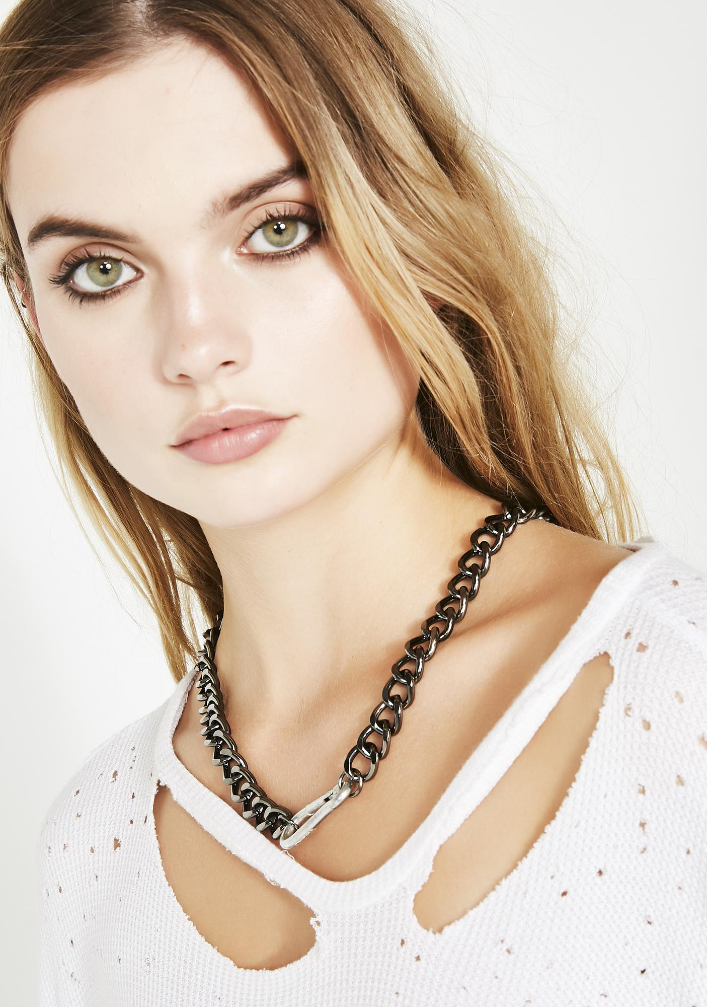 Hard As Steel Chain Necklace