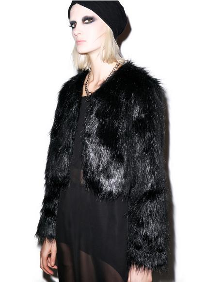Faux Sho Cropped Fur Jacket