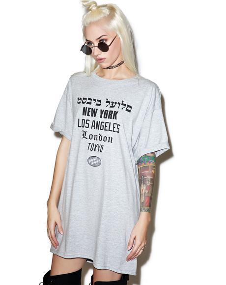 Worldwide Tee Dress