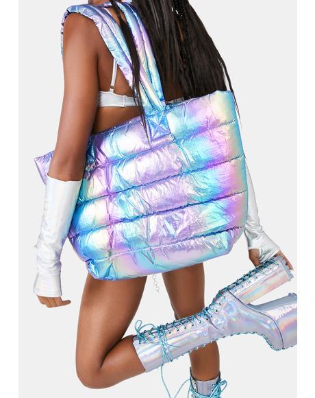 Psycho Stimulation Puffer Tote Bag