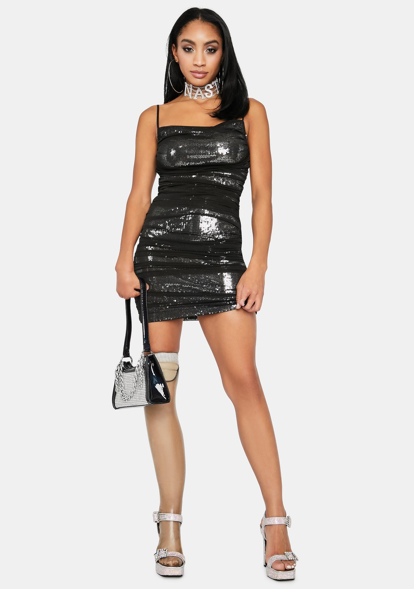 Midnight Life Of The Party Sequin Dress