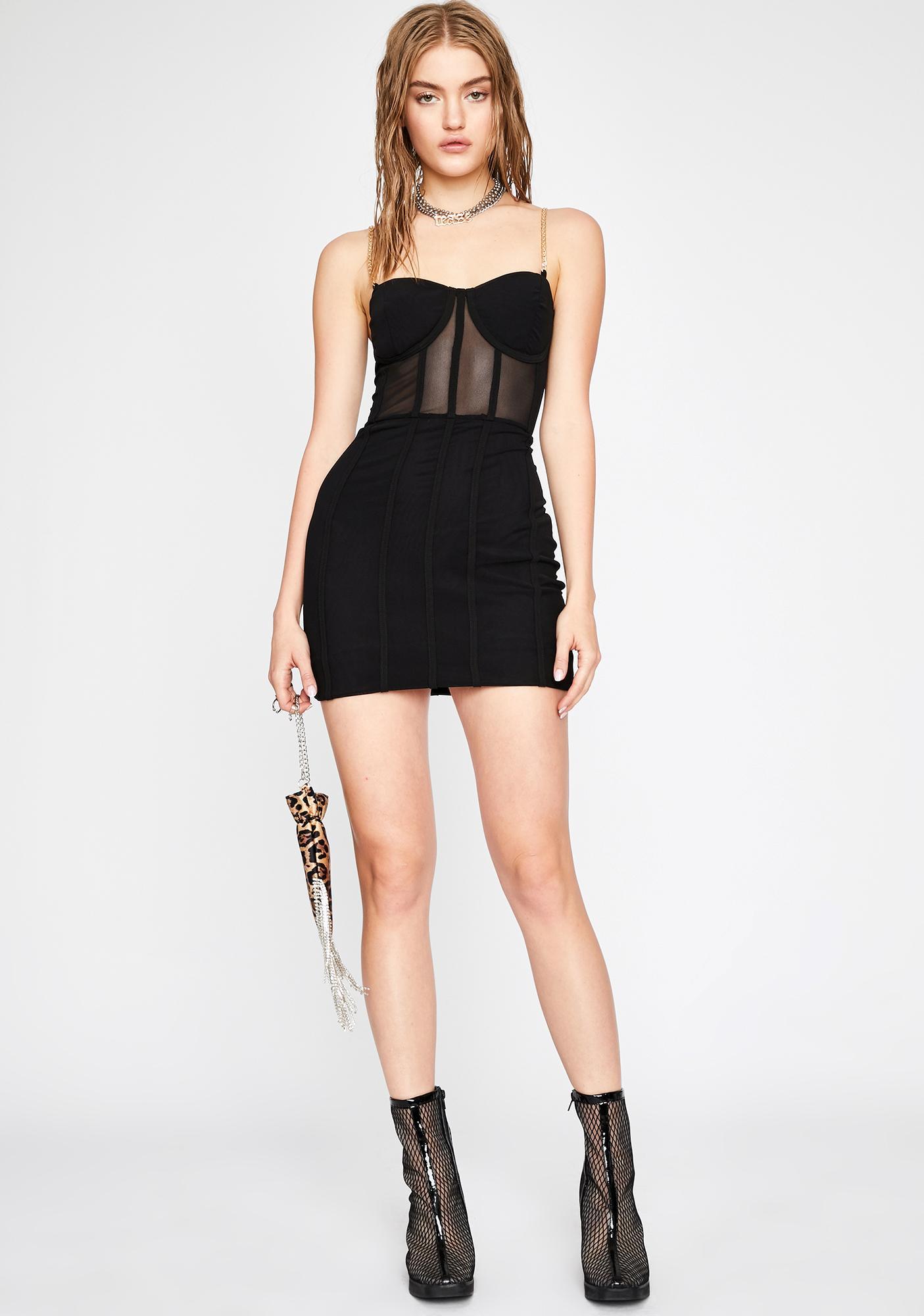 Dark Professionally Dangerous Mini Dress