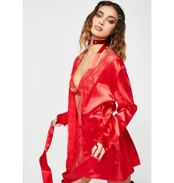 Holly Harlot Satin Robe