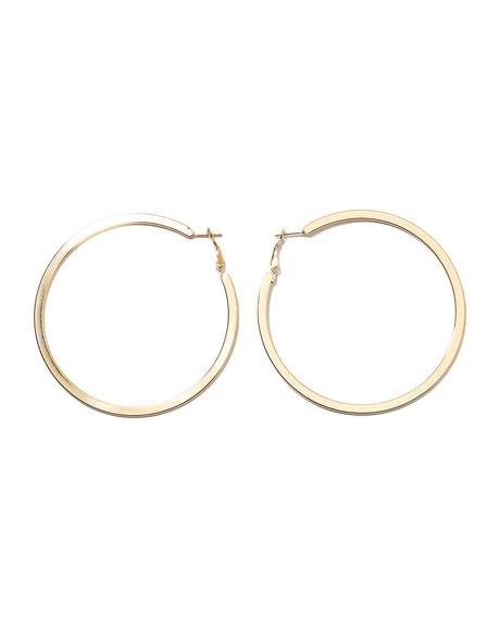 Round N' Round Gold Hoop Earrings