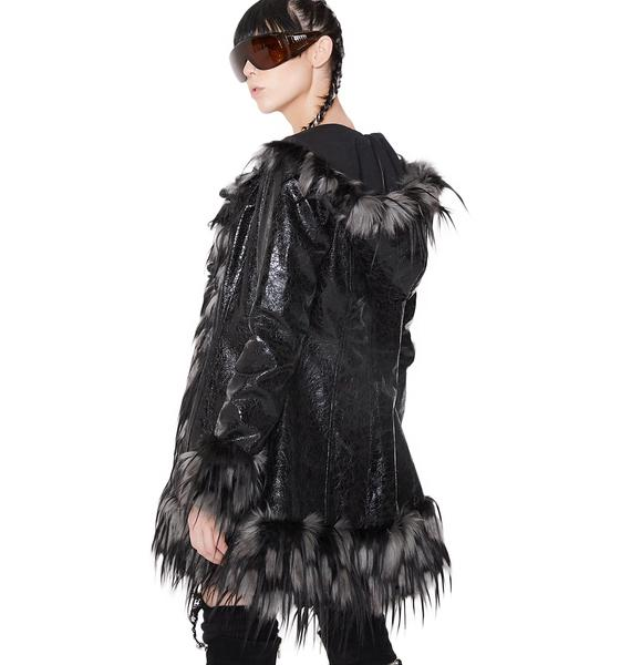 Club Exx Opulent Asylum Faux Fur Jacket