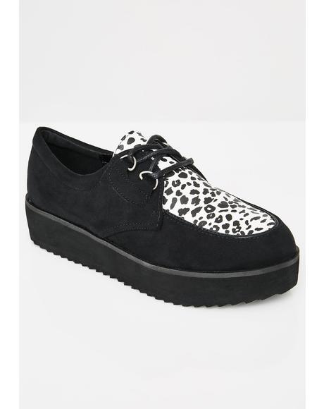 Rockabilly High Vegan Leather Creepers