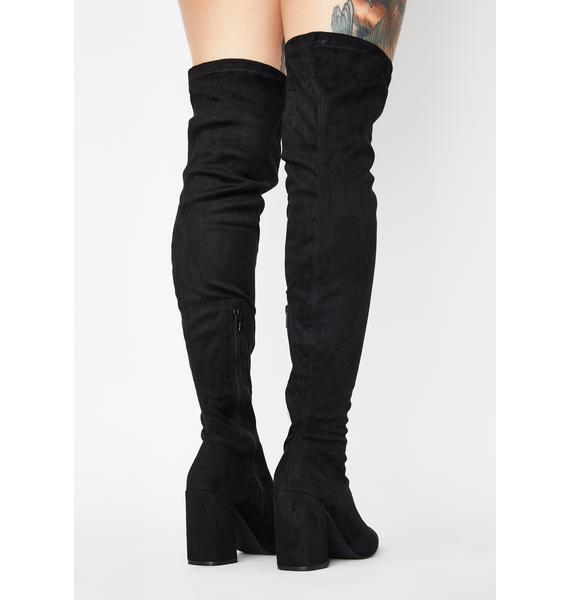 Suede Fantasized Lie Thigh High Boots