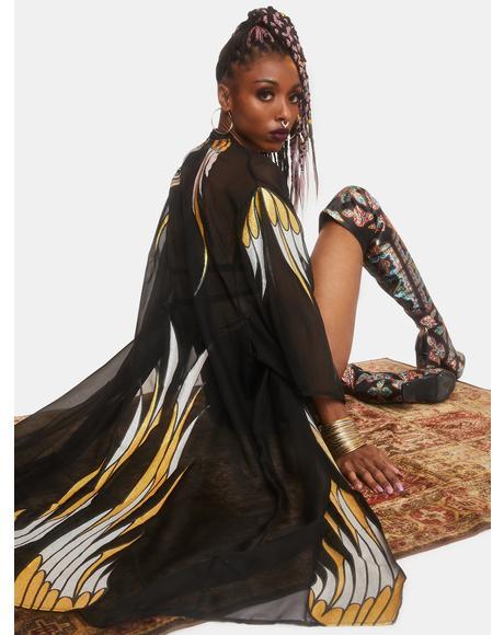 Phoenix Rising Sheer Kimono