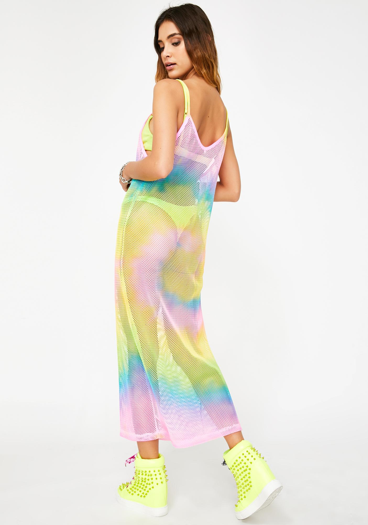 Take The Bait Fishnet Dress