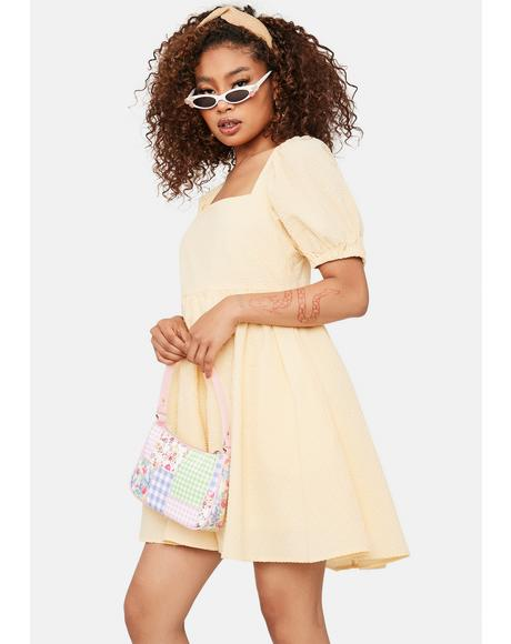Mellow Mood Puff Sleeve Mini Dress