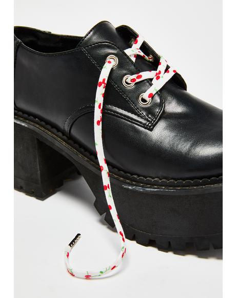 Red Cherry Shoelaces