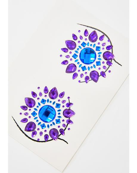 Blue Violet Crystal Pasties