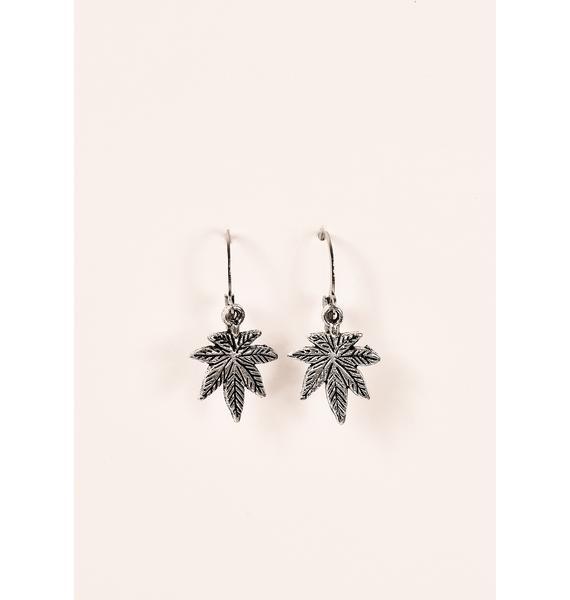Desert Moon Silver Leaf Earrings