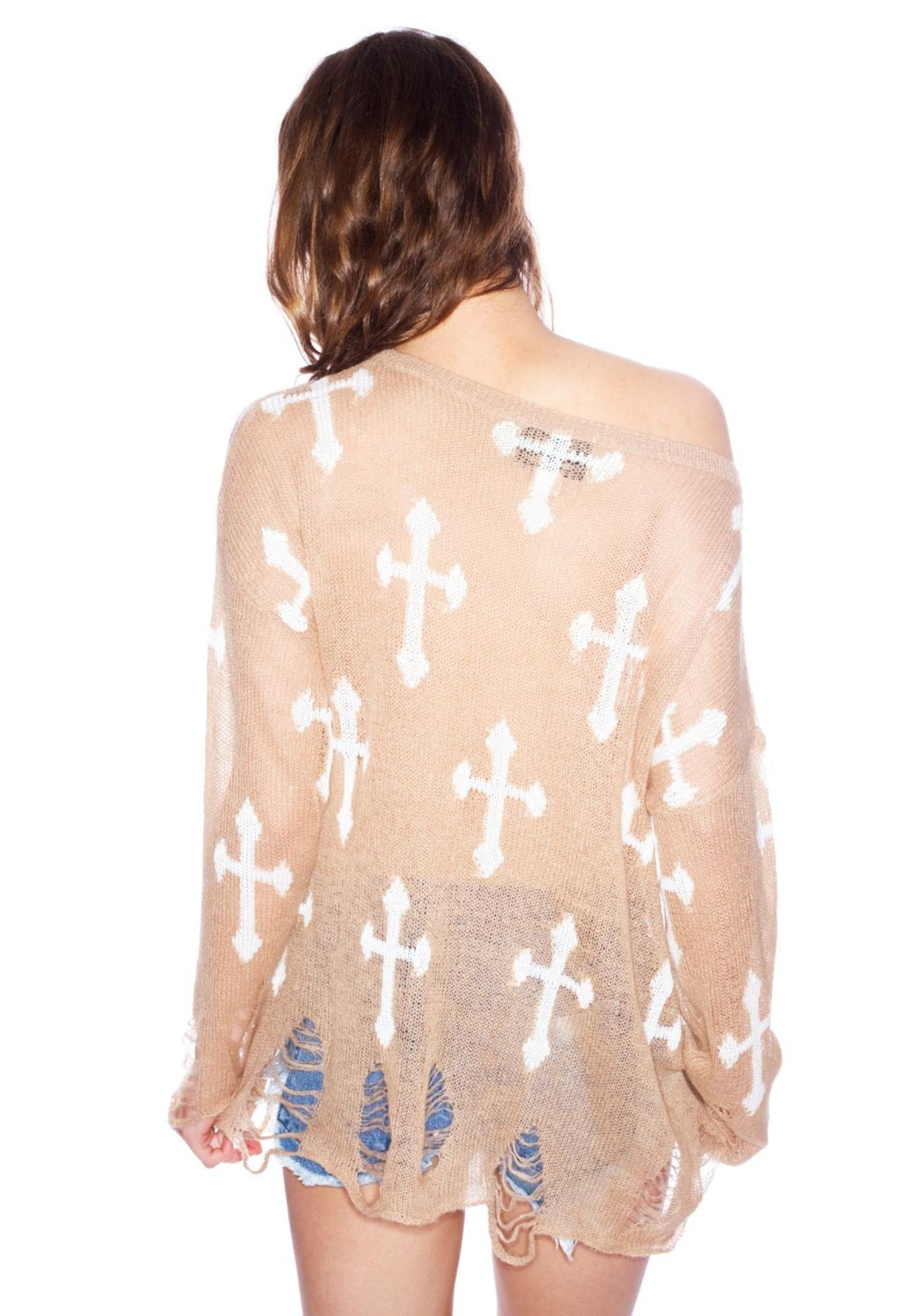 Wildfox Couture Gothic Cowgirl Lennon Sweater