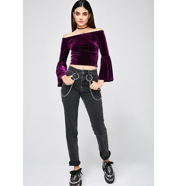 Purple Skies Velvet Top