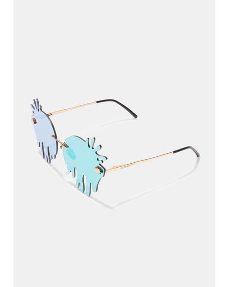 Beetle Green UV Splashes Glasses