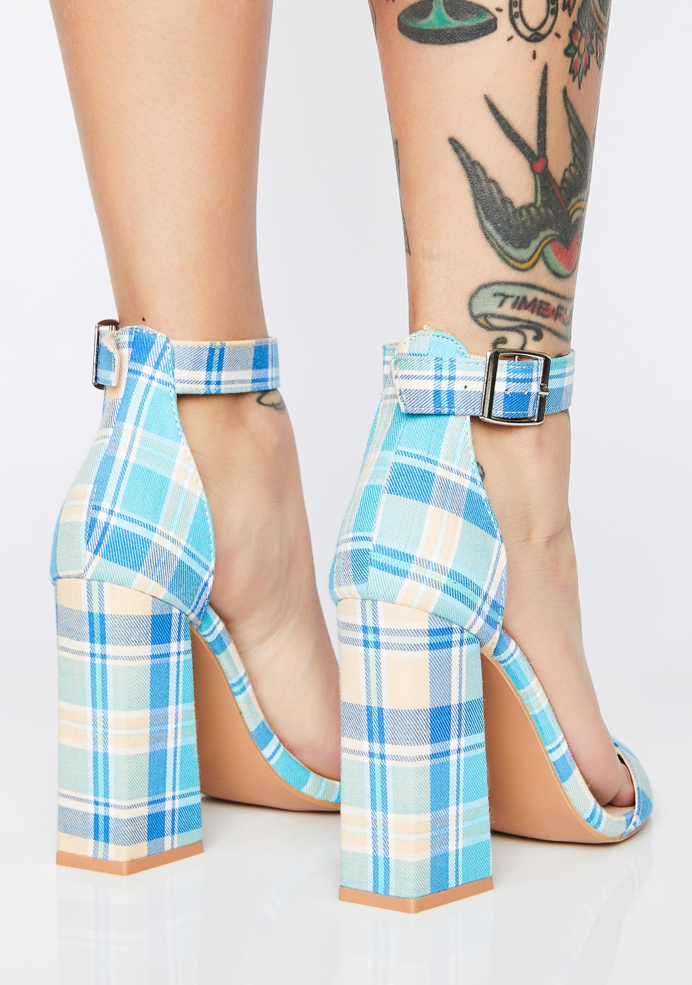 Just Flawless Plaid Heels