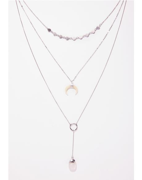 Crescent Vibe Layered Necklace