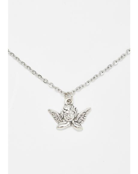 Thinking Cupid Necklace