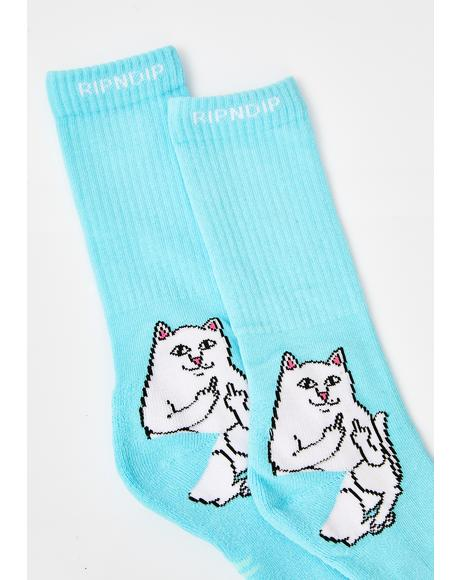 Baby Blue Lord Nermal Socks