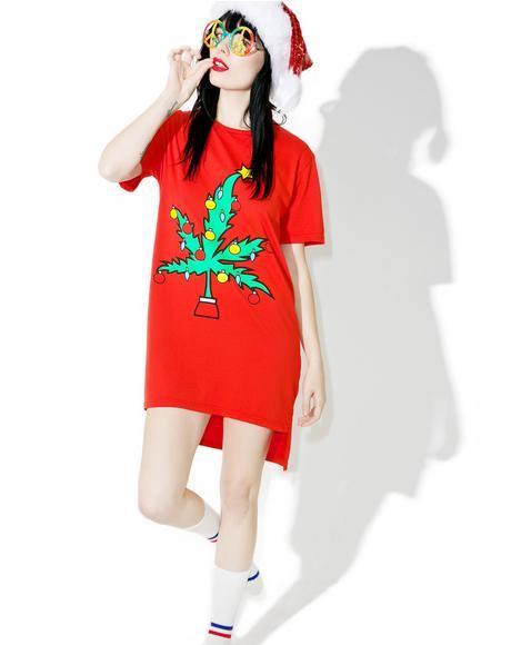 Weed Tree Hi Lo Tee