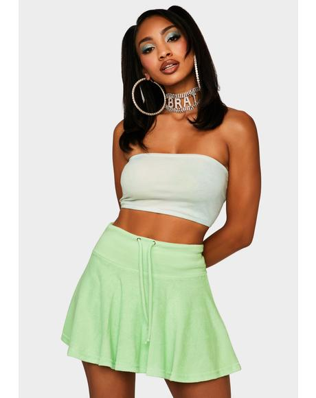 Green Not Ur School Grl Mini Skirt