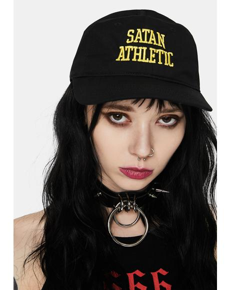 Satan Athletic Snapback Hat