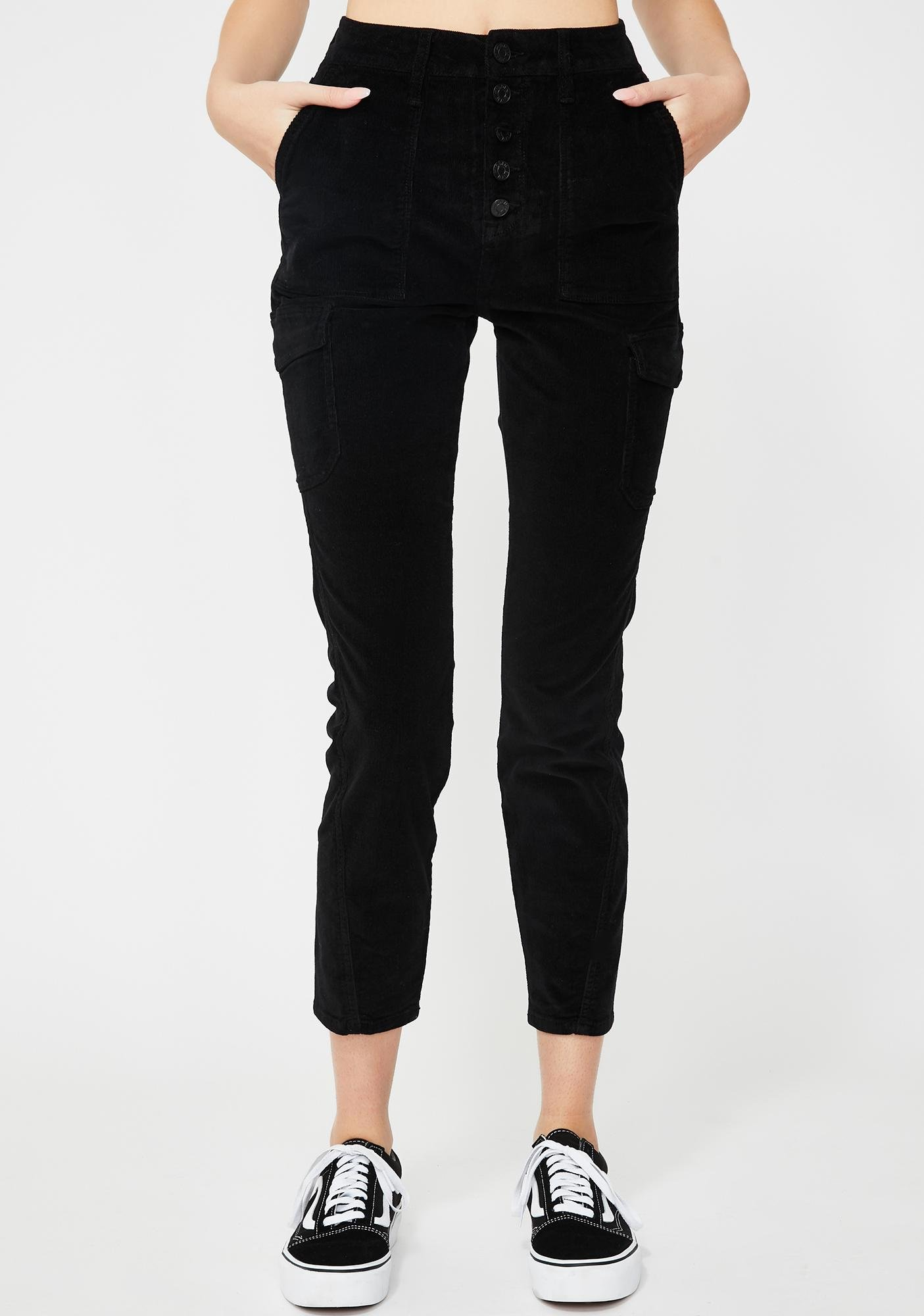 Hidden Denim Black Corduroy Skinny Jeans