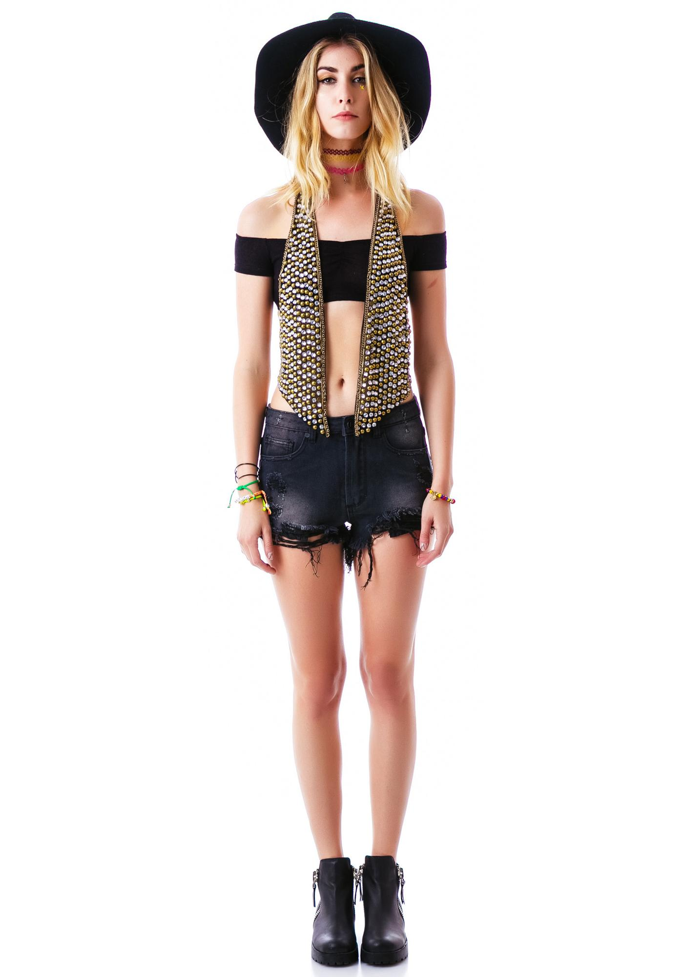 Baez Beaded Racer Back Vest