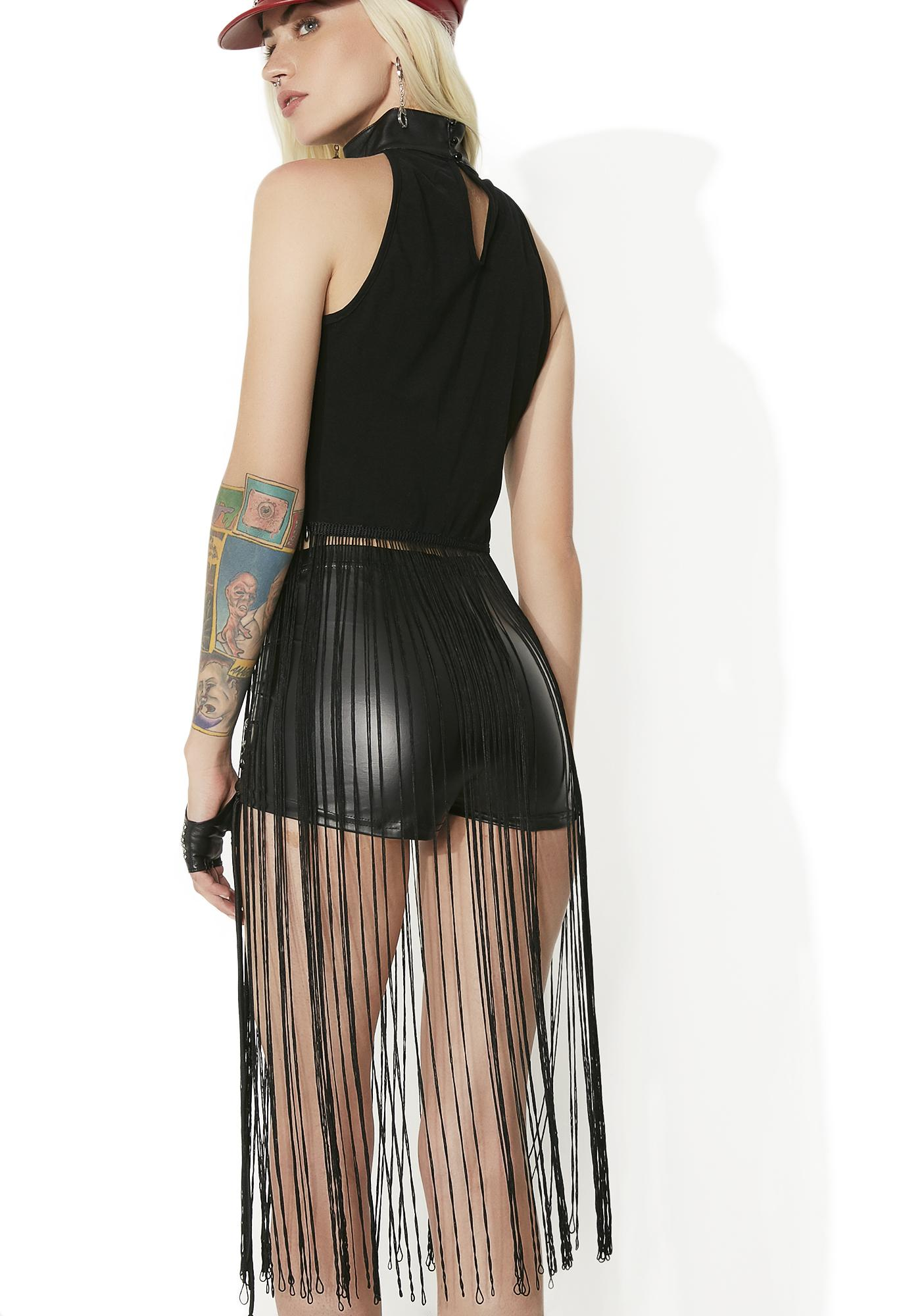 Shadow Villain Long Fringe Top