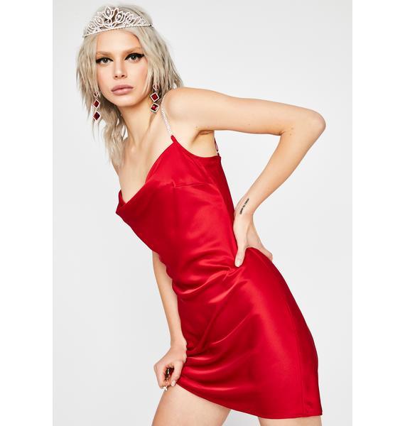 HOROSCOPEZ Enchantress Affair Satin Dress