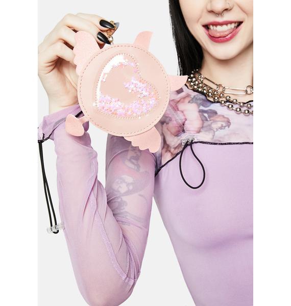 Angel Love's Wings Circle Crossbody Bag