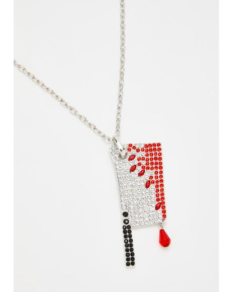 Diamante Bloody Cleaver Necklace