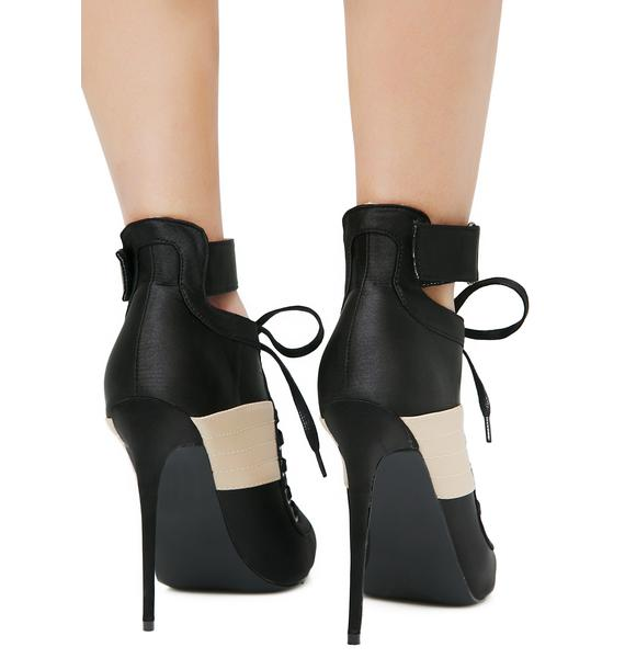 Public Desire Fifi Lace-Up Heels