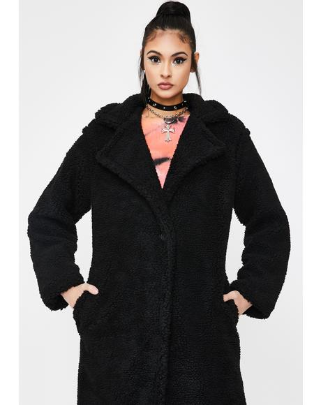 Black Paddington Teddy Coat