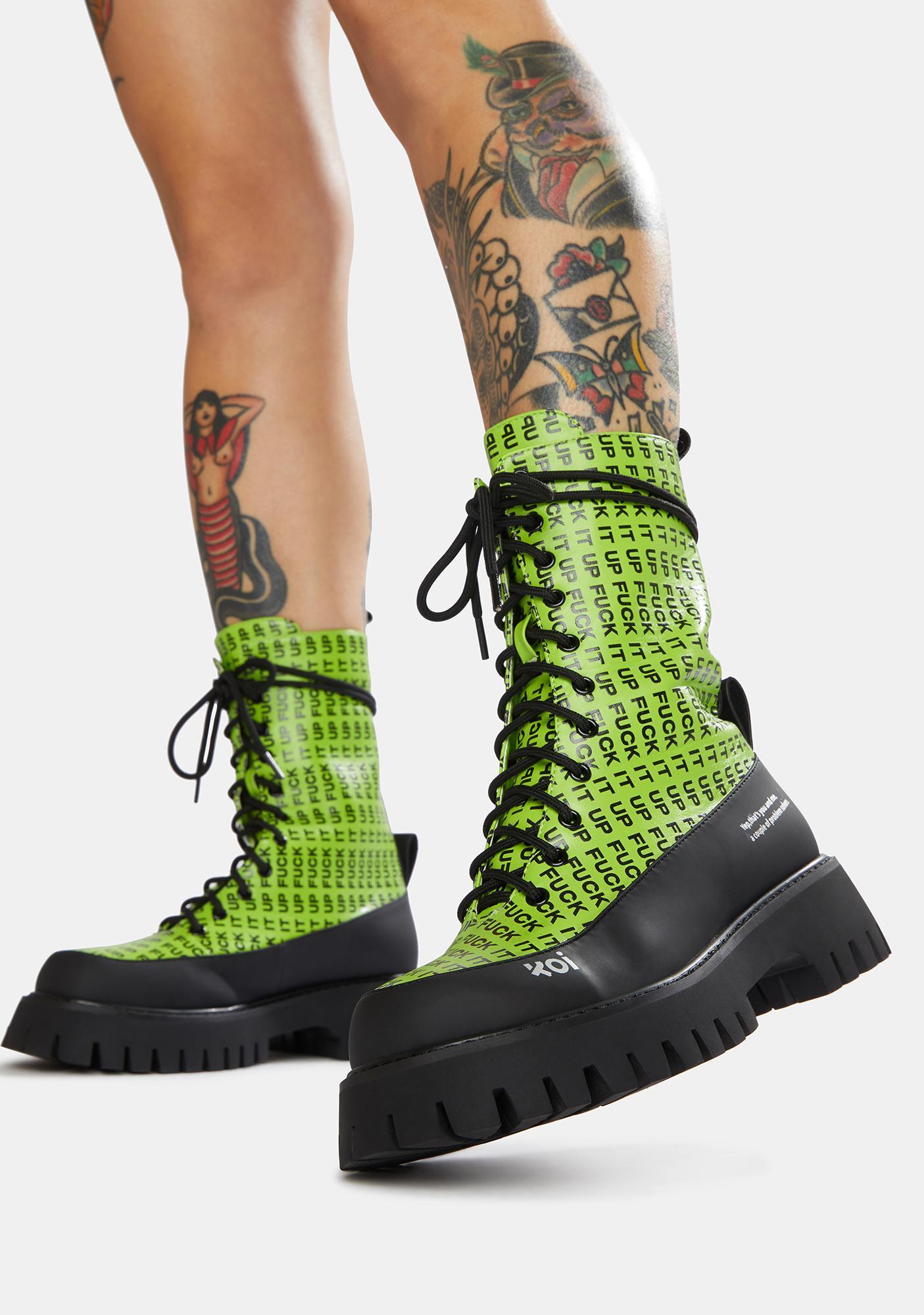 Koi Footwear F It Up Military Boots