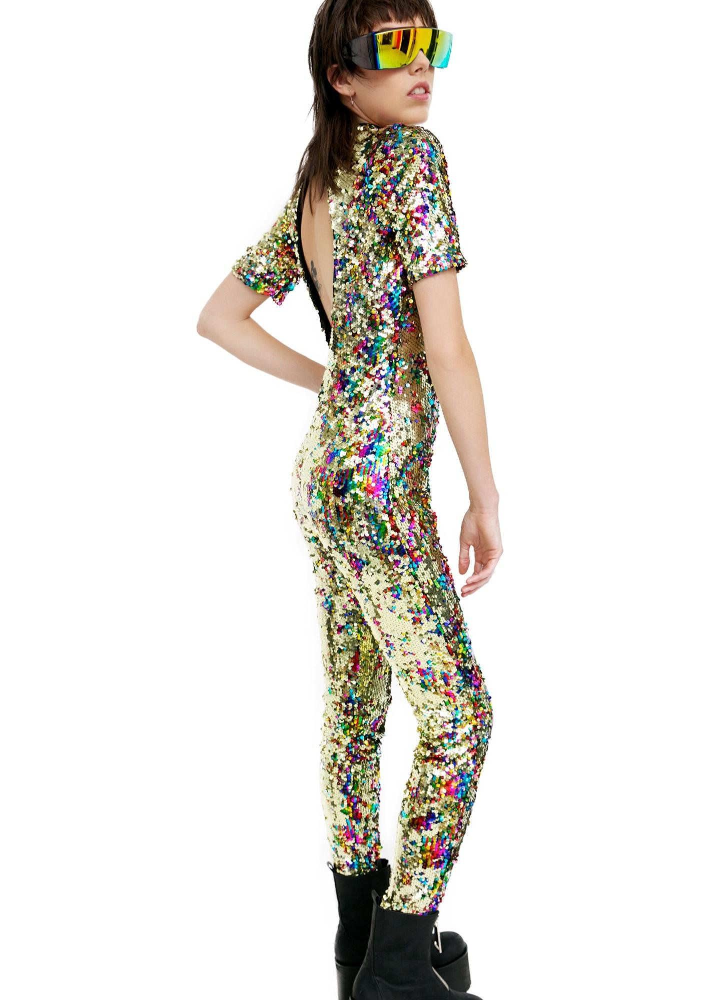 ea780bd60 Jaded London Rainbow Sequin Jumpsuit | Dolls Kill