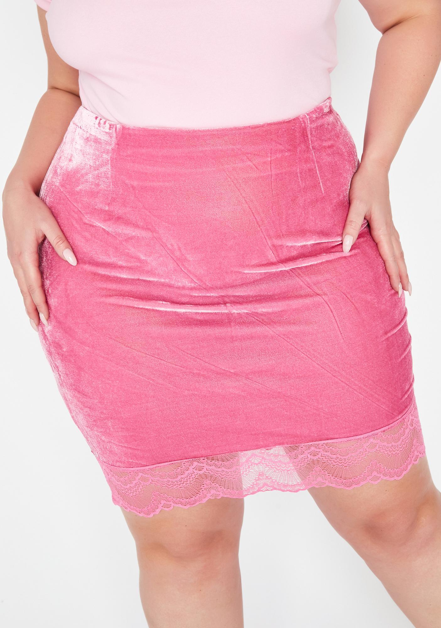 Diva Mz Where Are My Manners Velvet Skirt