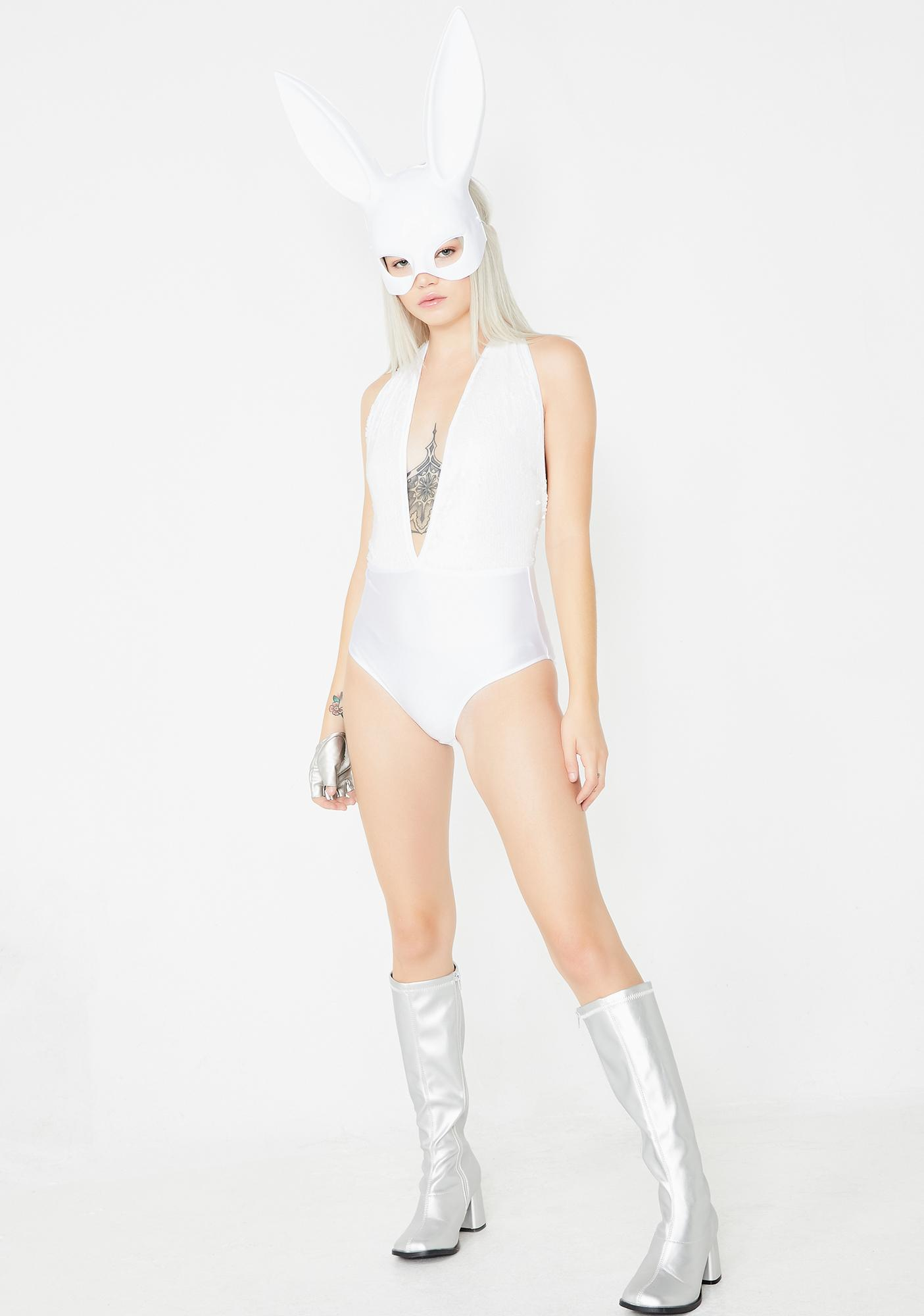 Frosted Dead Angels Sequin Bodysuit