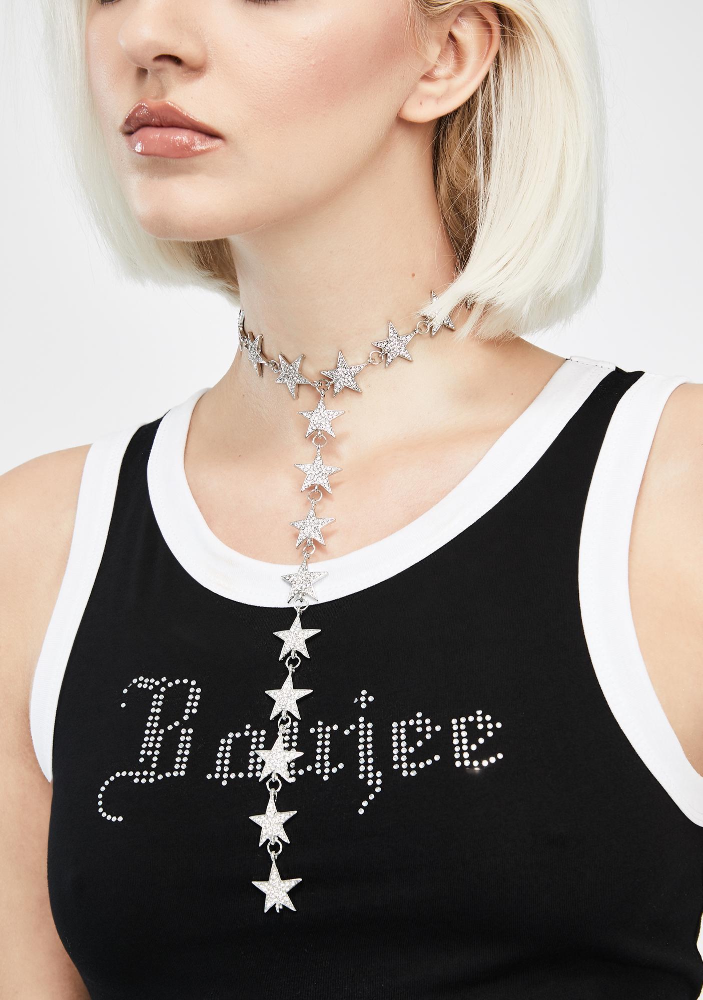Star Watcher Drop Necklace
