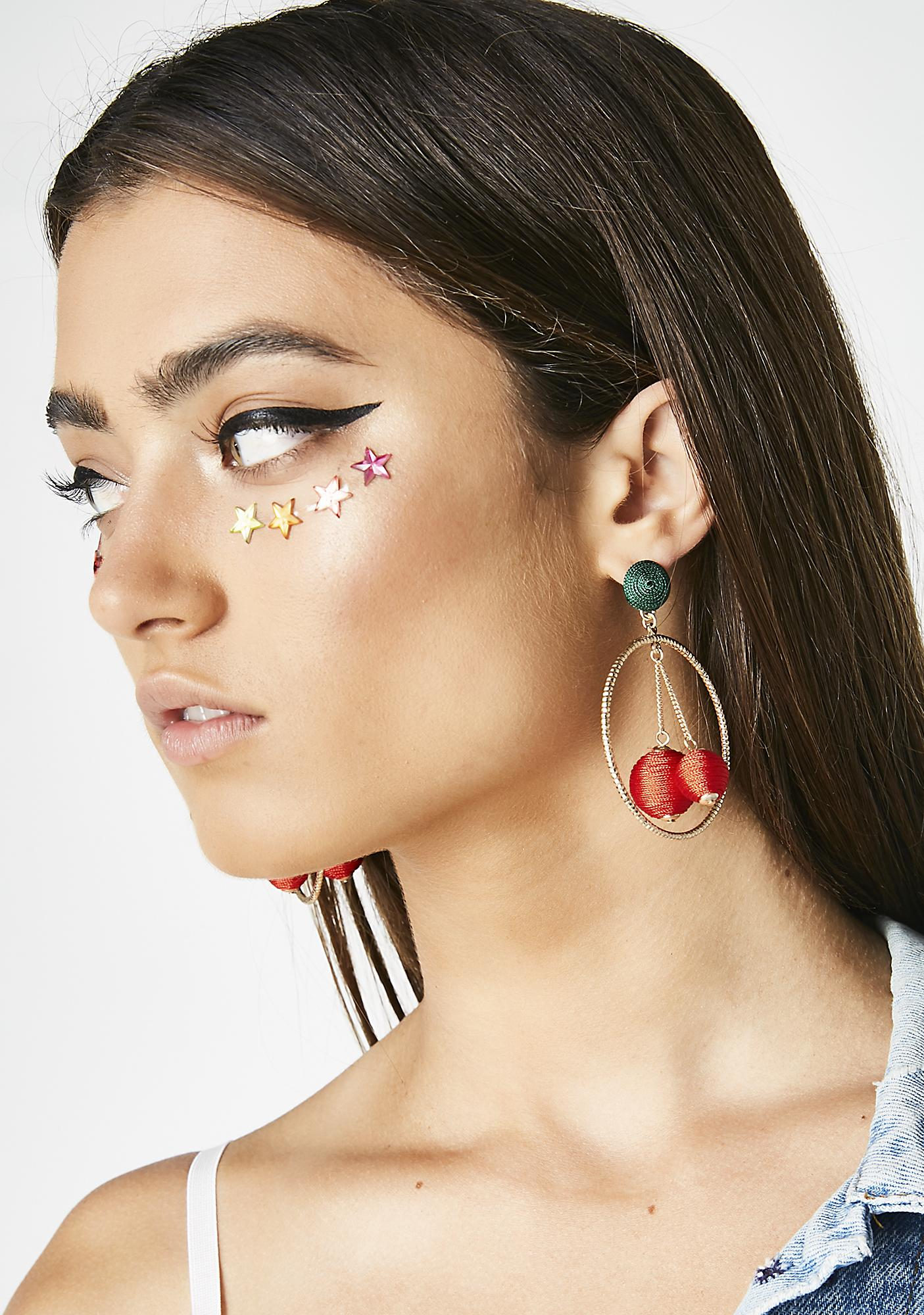Wild Cherry Child Earrings