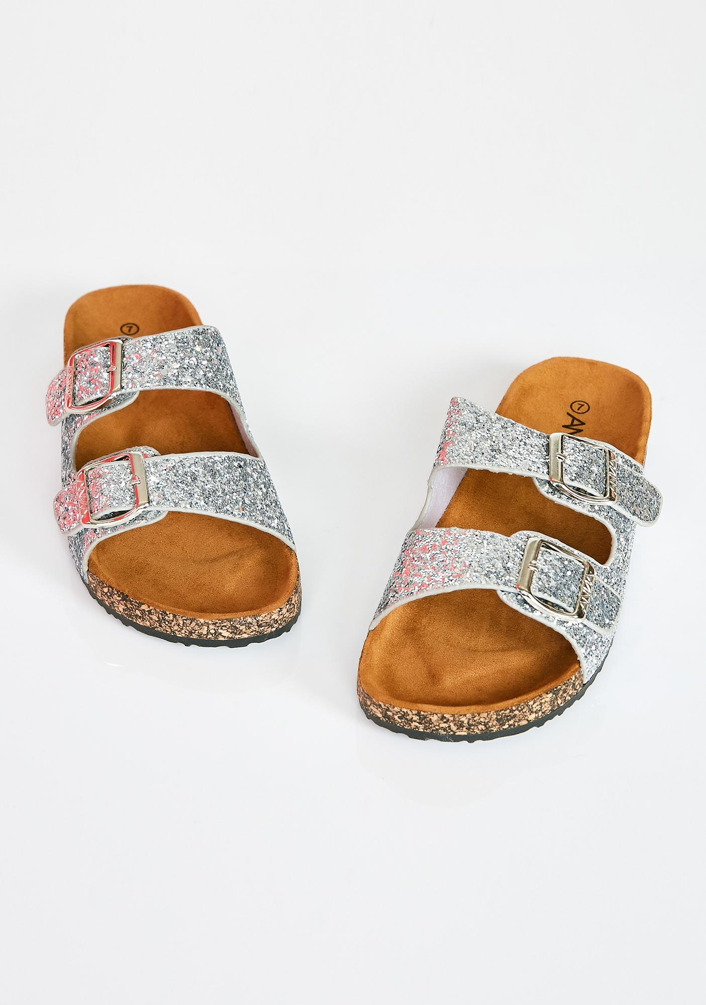 Chrome Sparkle Ur Way Glitter Sandals