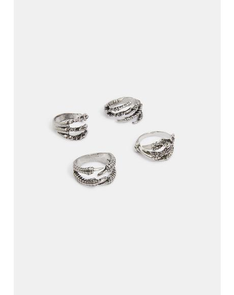Fallen Idols Dragon Ring Set