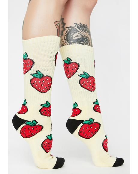 Strawberry Crew Socks