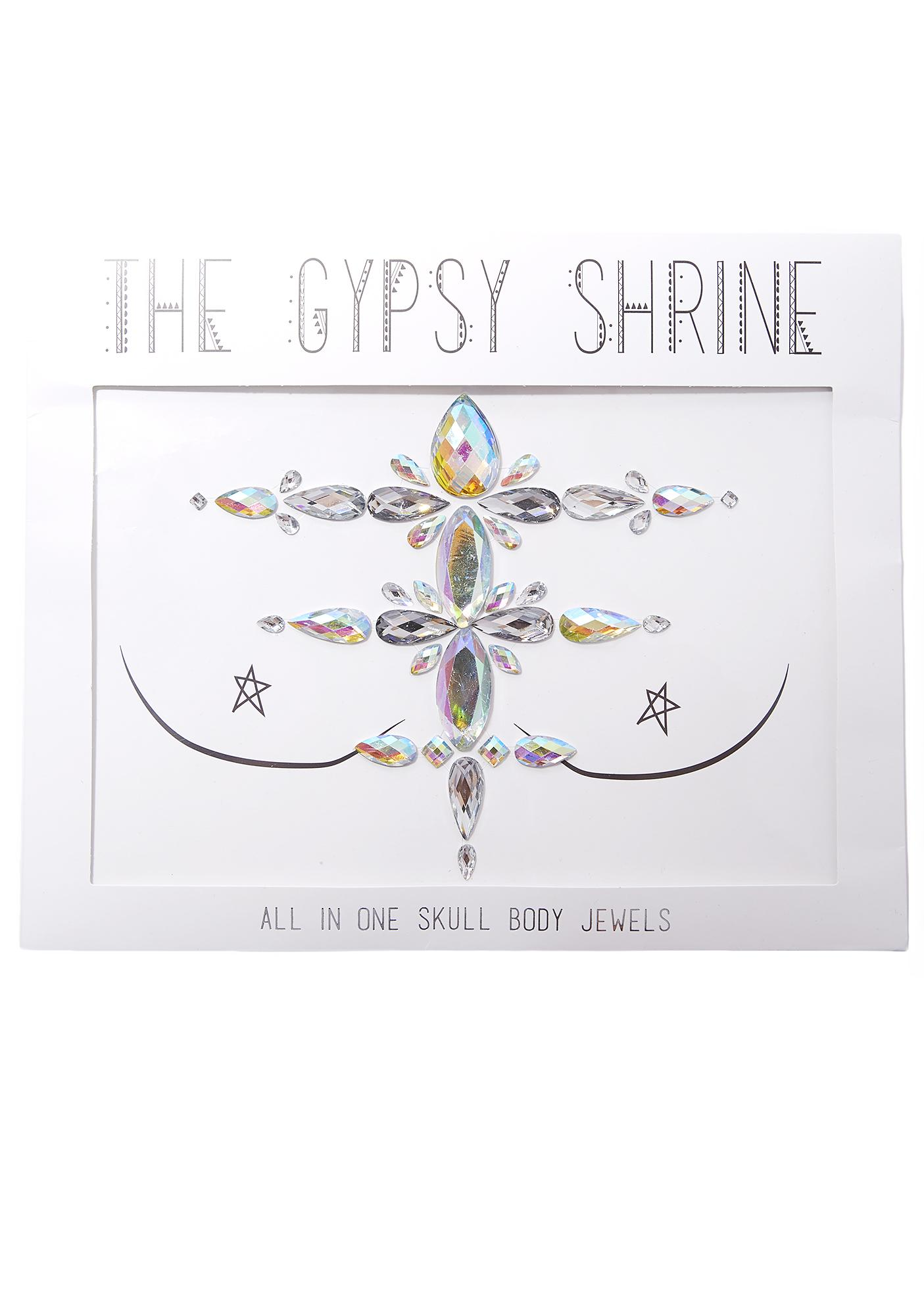 The Gypsy Shrine Skull Chest Piece Body Jewel