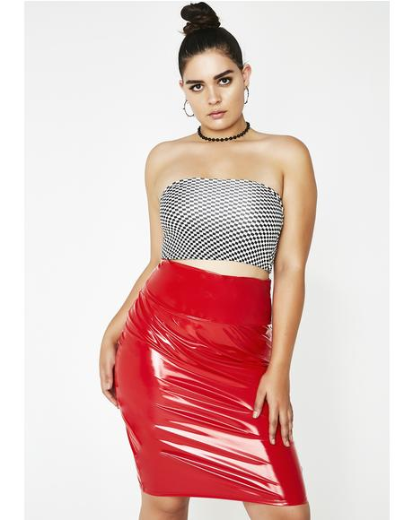 Never Loved Us PVC Pencil Skirt